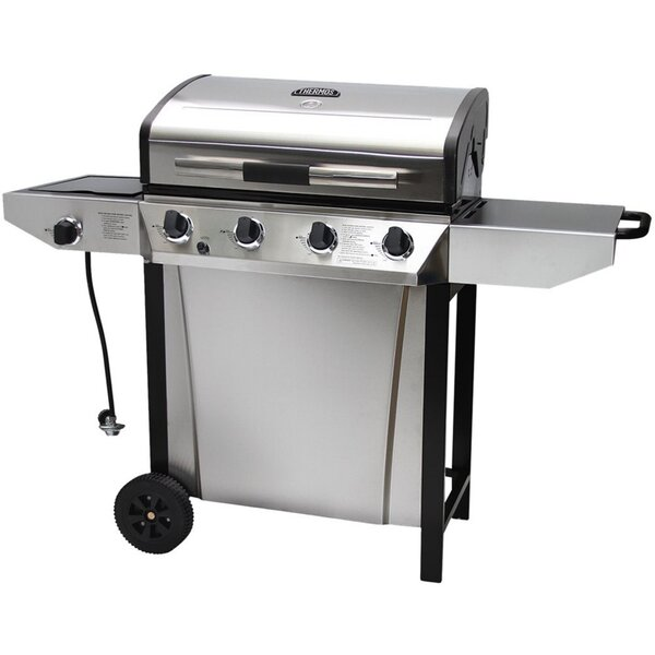 Thermos 4-Burner Propane Gas Grill with Side Shelves by Char-Broil