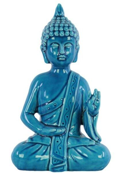 School Ceramic Meditating Buddha with Pointed Ushnisha Figurine by World Menagerie