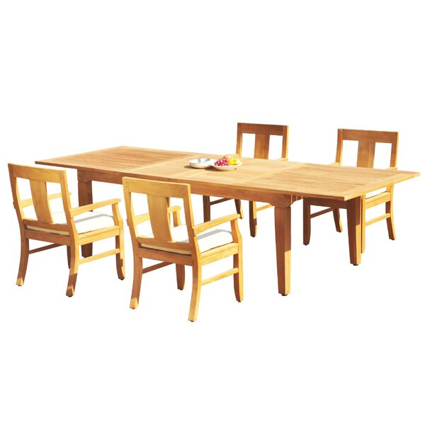 Maron 5 Piece Teak Dining Set by Rosecliff Heights