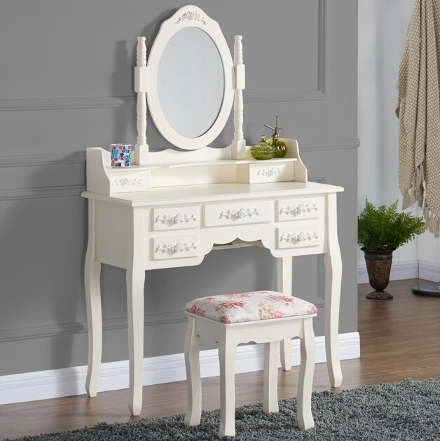 Sapp Dressing Table Set With Mirror