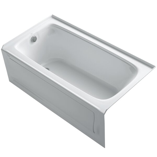 Bancroft 60 x 32 Alcove BubbleMassage Air Bathtub by Kohler