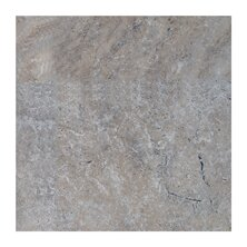 Philadelphia 4 x 4 Travertine Field Tile in Dark Gray by Seven Seas