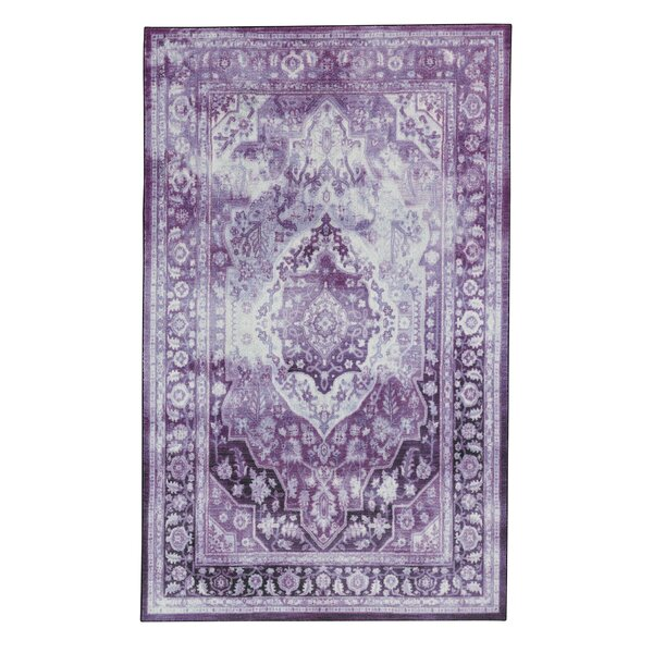 Dario Purple/Cream Area Rug by Bungalow Rose