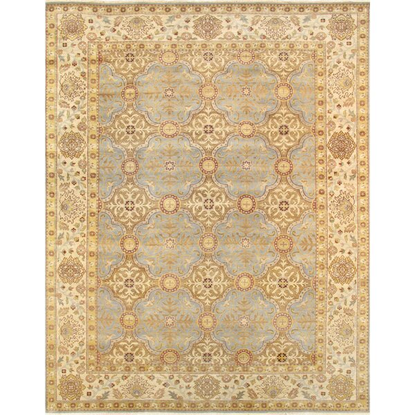 Sultanabad Hand-Knotted Wool Yellow/Gray Area Rug by Pasargad