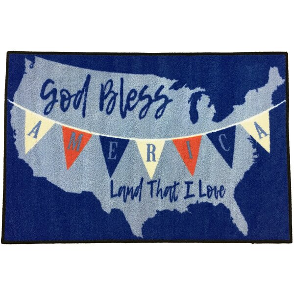 Esita America Patriotic Blue Area Rug by The Holiday Aisle