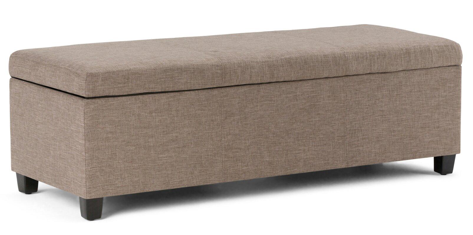 simpli home avalon upholstered storage bench  reviews  wayfair - defaultname