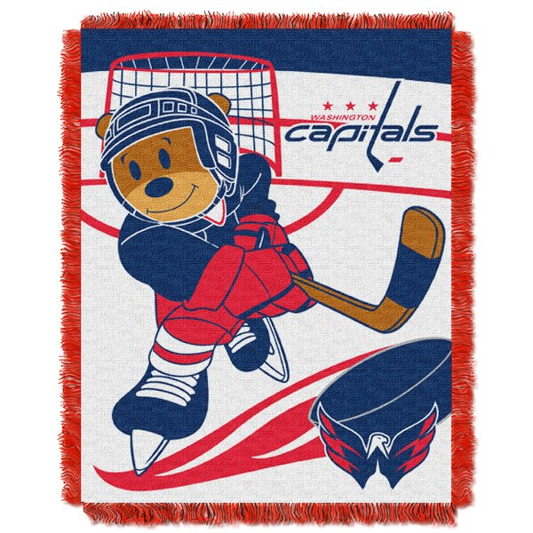 NHL Capitals Baby Woven Throw Blanket by Northwest Co.