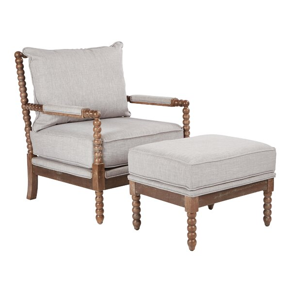 Joyner Armchair and Ottoman by Rosecliff Heights