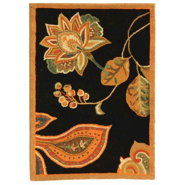 Kinchen Black/Orange Area Rug by August Grove