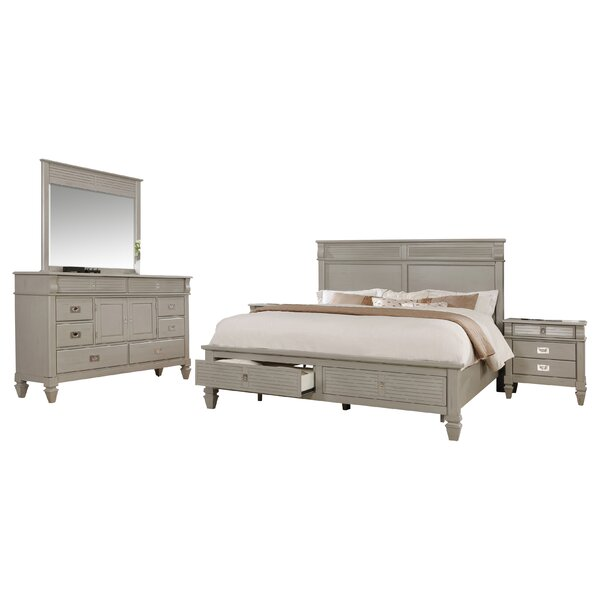 Vasilikos Solid Wood Construction Platform 4 Piece Bedroom Set by Beachcrest Home