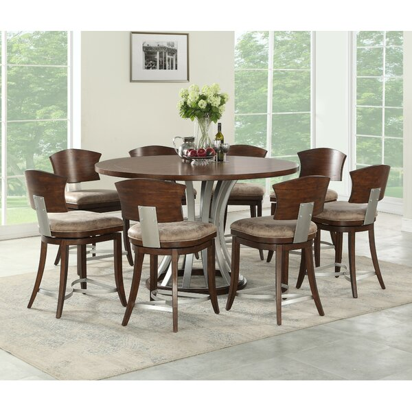 Villa 9 Piece Counter Height Dining Set by World Menagerie