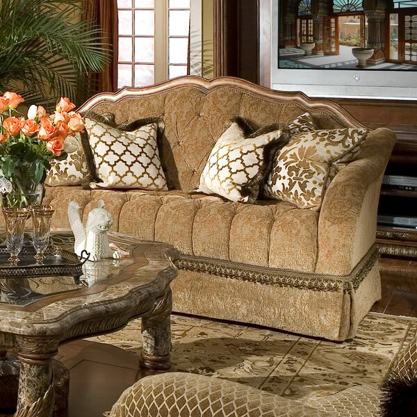 Good Quality Villa Valencia Standard Loveseat by Michael Amini by Michael Amini