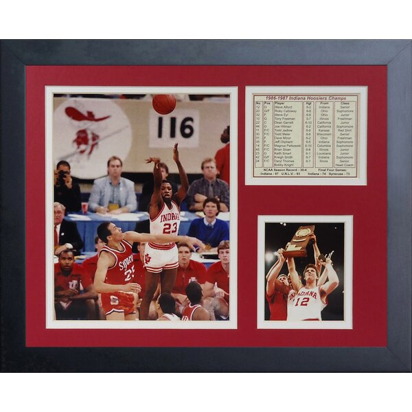 1987 Indiana Hoosiers Champions Framed Memorabilia by Legends Never Die
