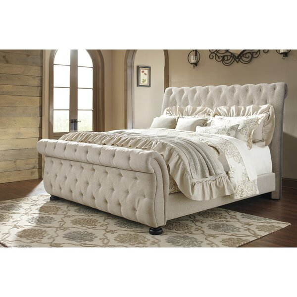 Ballwin Upholstered Sleigh Bed by Greyleigh