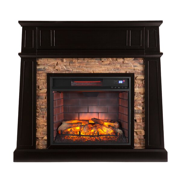 Shanks Black Electric Fireplace With Infrared Media By Alcott Hill