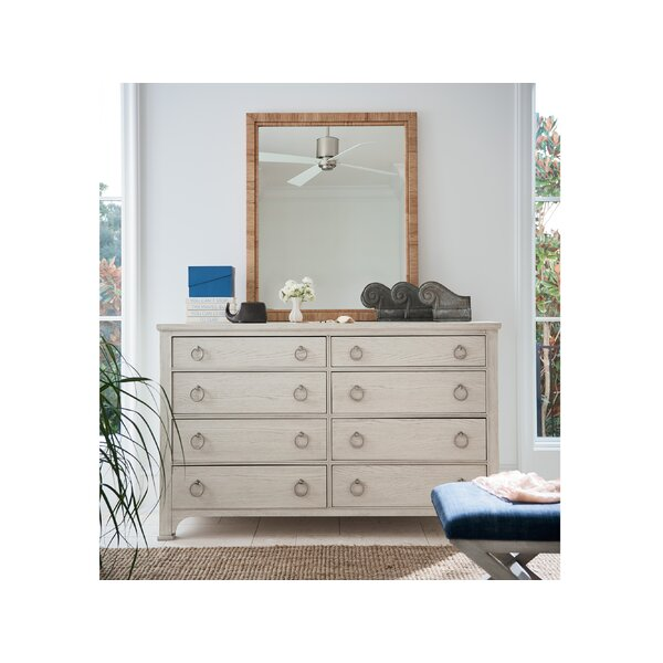 The Escape 8 Drawer Double Dresser with Mirror by CoastalLiving
