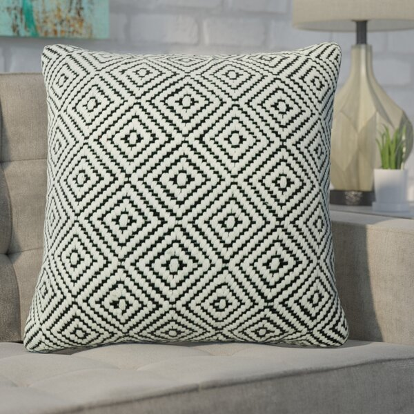 Defino Raised Diamond Throw Pillow by Ivy Bronx