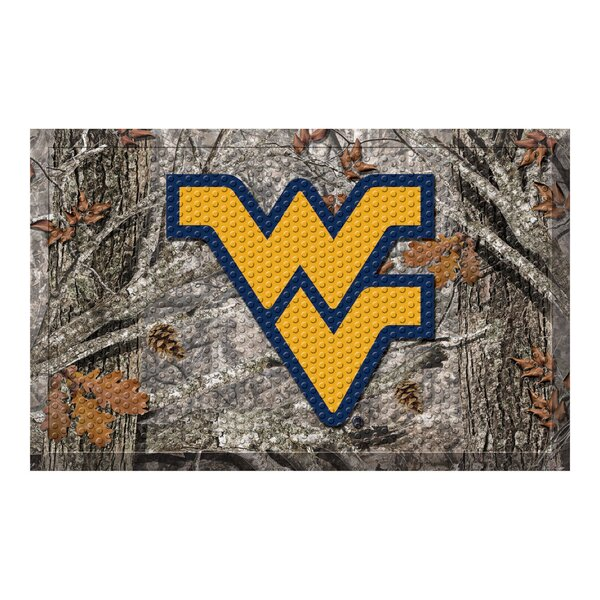 West Virginia University 30 in. x 19 in. Non-Slip Outdoor Door Mat