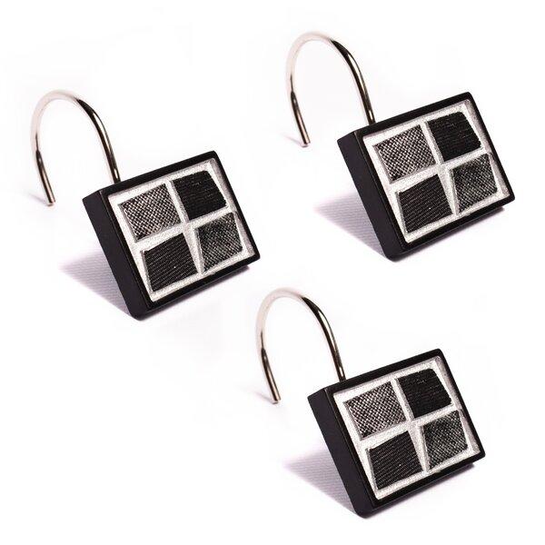 Stone Shower Curtain Hooks (Set of 12) by Popular Bath