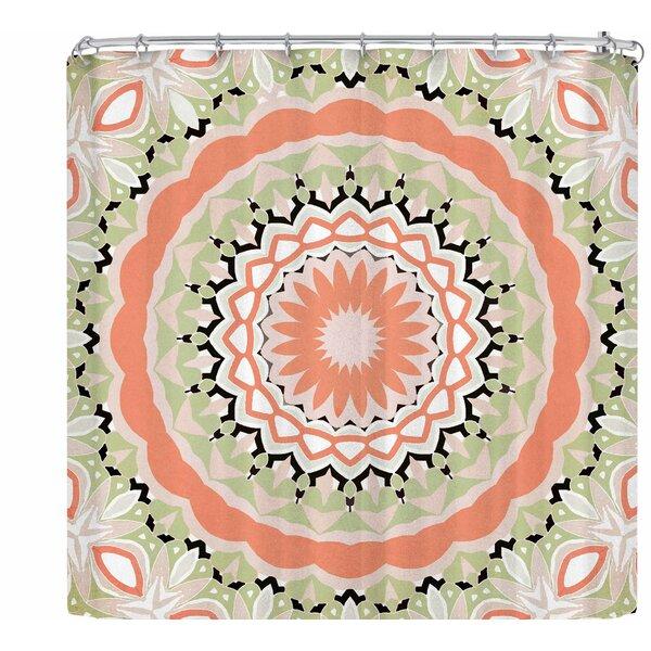 Alison Coxon Mango Tango Mandala Shower Curtain by East Urban Home
