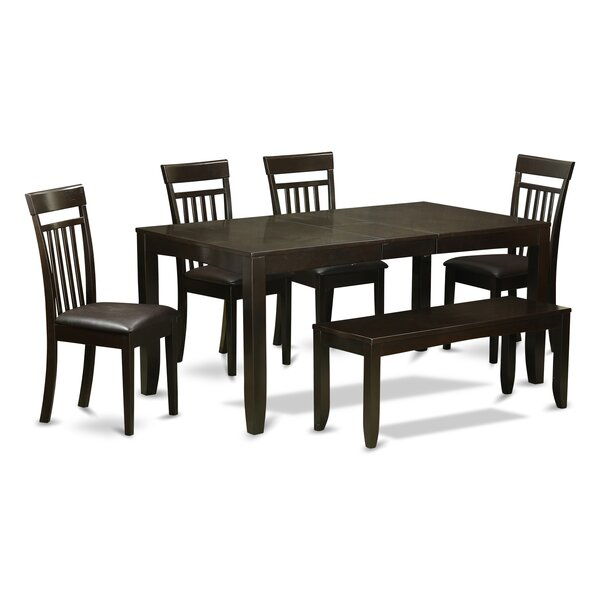 Lynfield 6 Piece Extendable Dining Set by East West Furniture