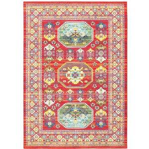 Saige Red Area Rug
