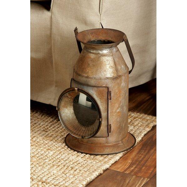 Hartshorne Metal and Glass Lantern by Loon Peak