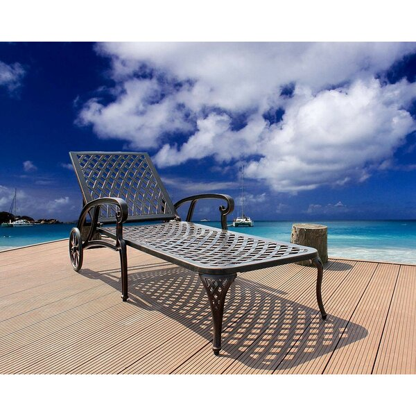 Vandervort Outdoor Reclining Chaise Lounge by Canora Grey Canora Grey