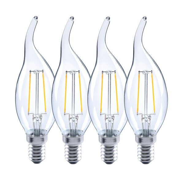 3W E12/Candelabra LED Light Bulb (Set of 4) by Kauri