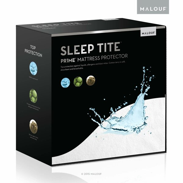 Smooth Hypoallergenic Waterproof Mattress Protector by Malouf