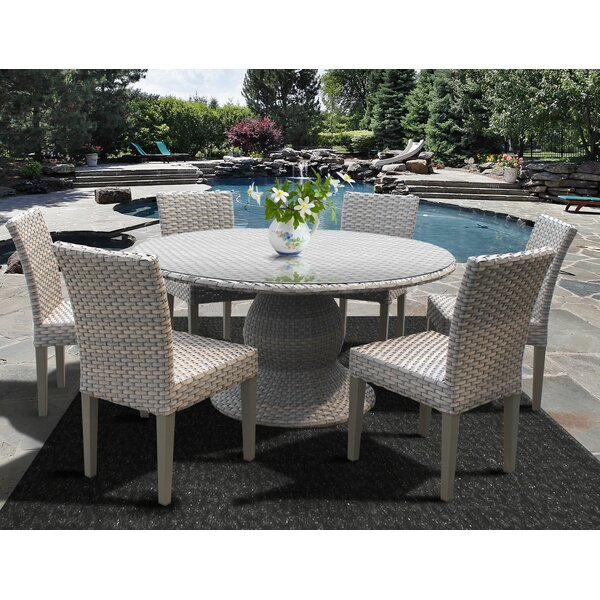 Medrano 7 Piece Outdoor Patio Dining Set by Rosecliff Heights