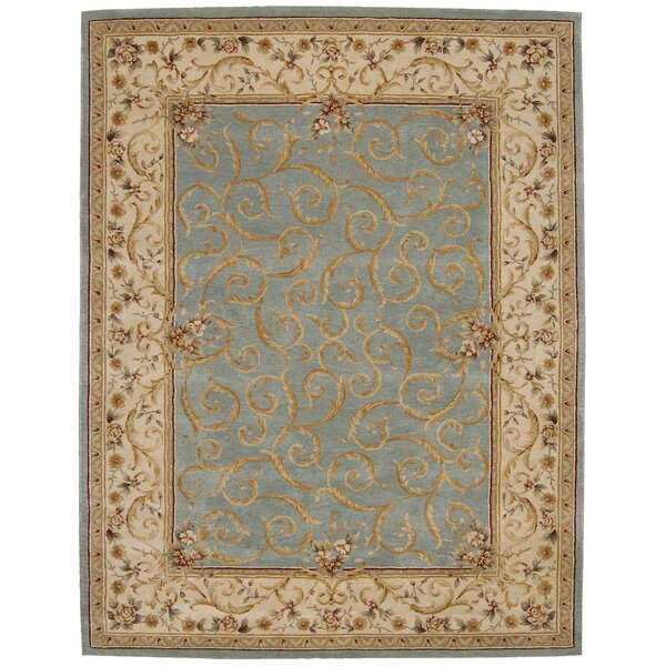Axella Hand-Tufted Turquoise Area Rug by Astoria Grand