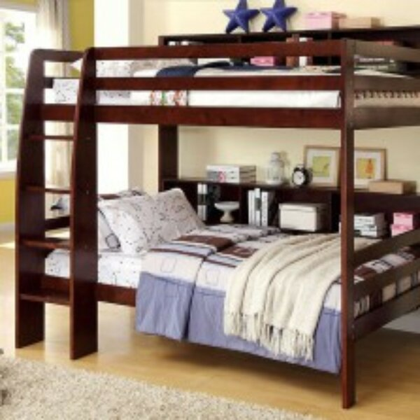 Northam Twin over Twin Bunk Bed with Bookcase by Harriet Bee