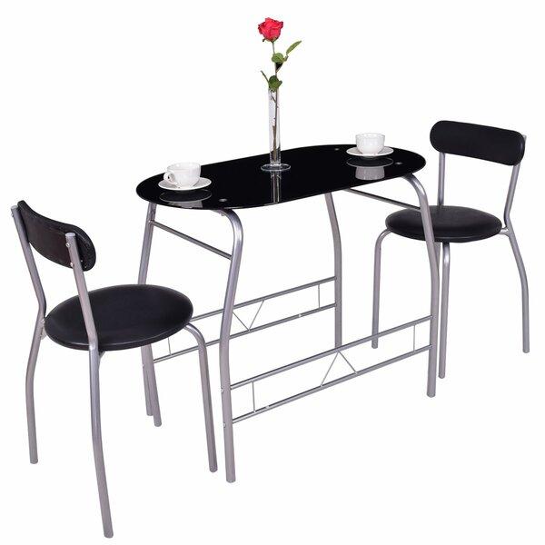 Cherri 3 Piece Dining Set by Ebern Designs