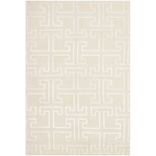 Reviews Fogg Tibetan Hand Knotted Ivory/White Area Rug ByEverly Quinn