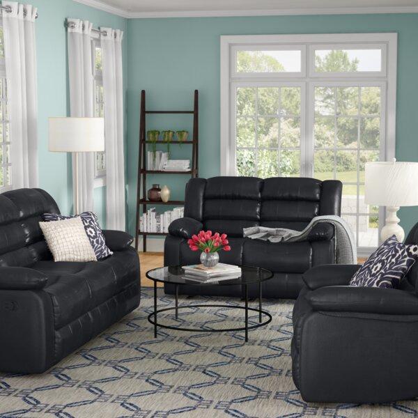 Hamlin Reclining 3 Piece Living Room Set by Red Barrel Studio