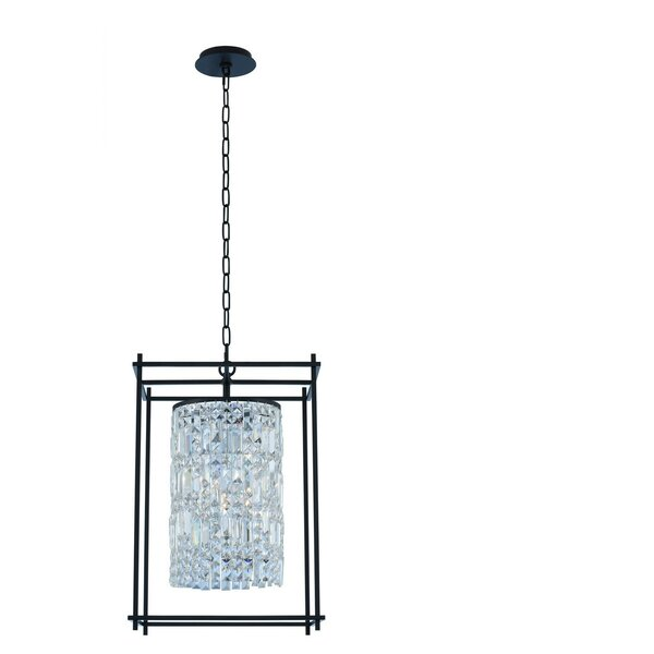 Joni 4-Light Shaded Square / Rectangle Chandelier with Crystal Accents by Allegri by Kalco Lighting Allegri by Kalco Lighting