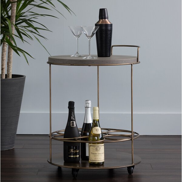 Laclair Bar Cart By Bloomsbury Market Discount