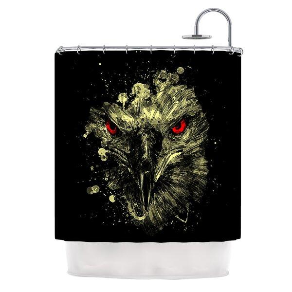 Eagle by BarmalisiRTB Shower Curtain by East Urban Home