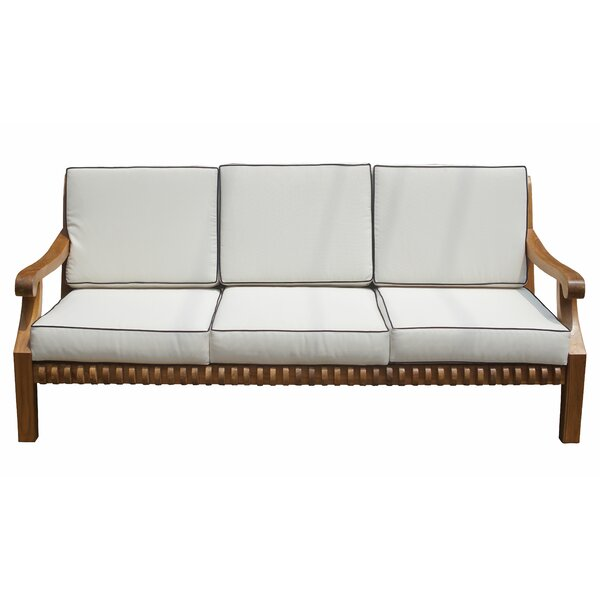 Coral Deep Seating Teak Patio Sofa with Cushions by Loon Peak