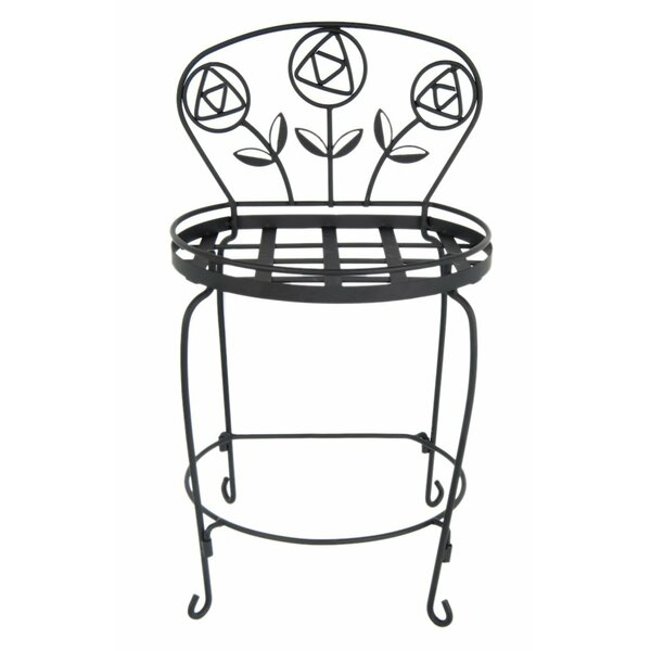 Rose Garden Chair Plant Stand by Plastec