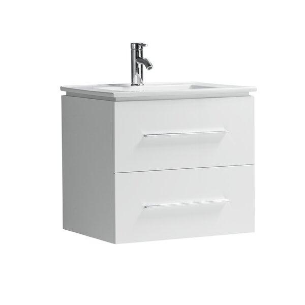 Sandoval 24 Wall-Mounted Single Bathroom Vanity Set by Orren Ellis