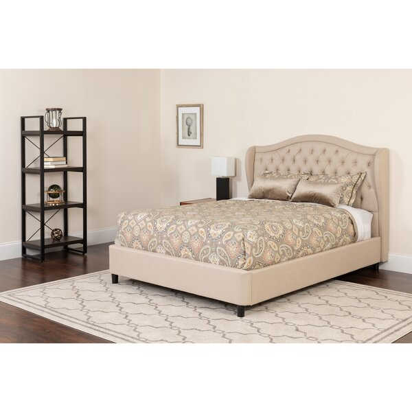 Tamia Tufted Upholstered Platform Bed by Alcott Hill
