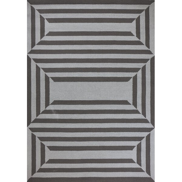 Hamptons Emerson Hand-Hooked Charcoal Indoor/Outdoor Area Rug by Libby Langdon