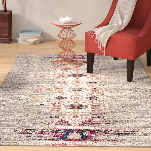 Annabel Pink Area Rug by Bungalow Rose