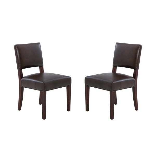 Biggs Upholstered Dining Chair (Set of 2) by Latitude Run Latitude Run