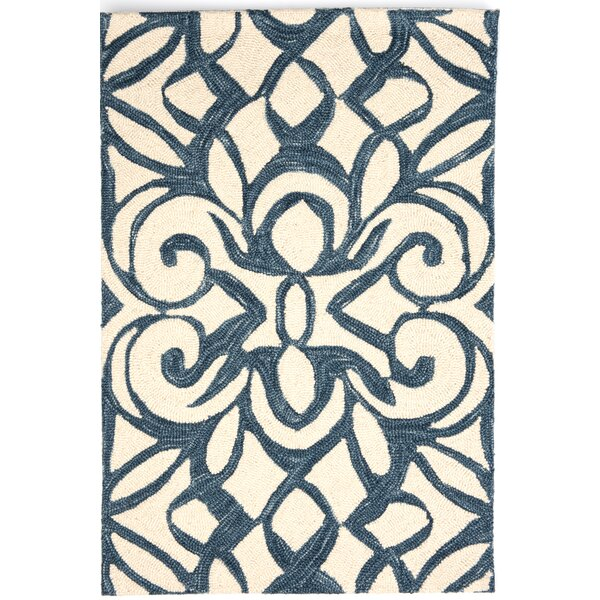Hooked Blue/White Area Rug by Dash and Albert Rugs
