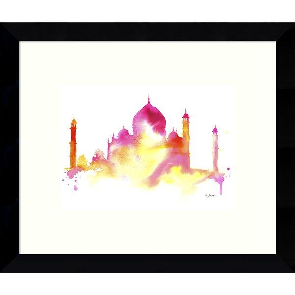 India Dreams Taj Mahal Framed Wall Art by Bungalow Rose