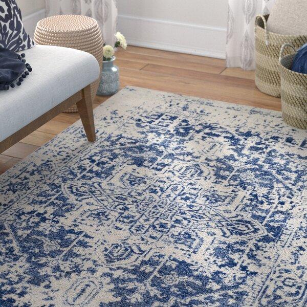 Hillsby Oriental Beige/Blue Area Rug by Mistana