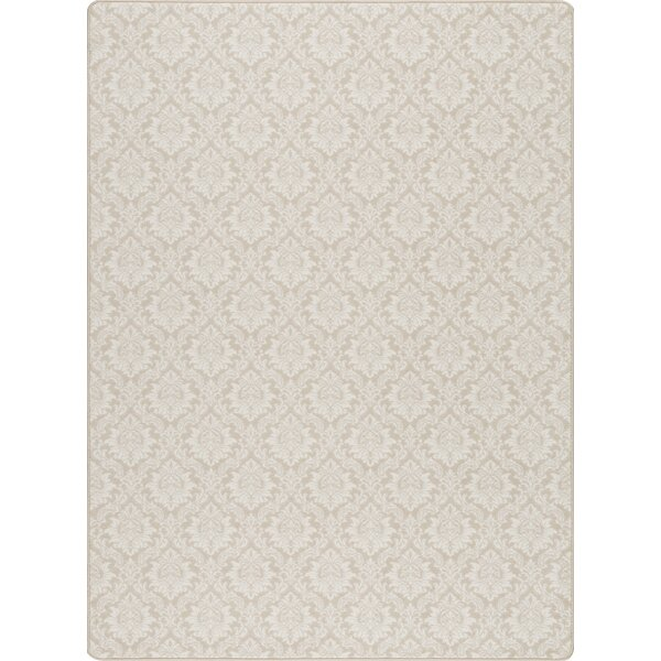 Tinsman Satin Beige Area Rug by Charlton Home